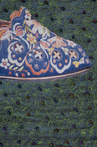 Gaza's Shoes, detail